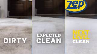 Zep Commercial Carpet Cleaner Solution in Action