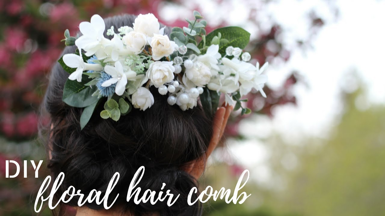 Diy Wedding Gorgeous Floral Hair Comb Tutorial Inexpensive