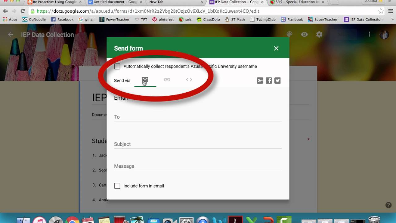 Google Forms for IEP Data Mini Project - YouTube