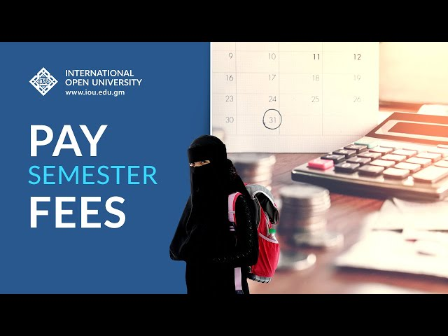 Pay Semester Fees - How-To Tutorials