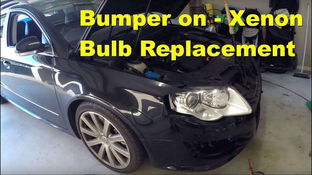 Volkswagen Pat 3c R36 Xenon Headlight Bulb Change Per On