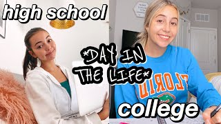 DAY IN THE LIFE OF ONLINE SCHOOL: COLLEGE VS. HIGHSCHOOL