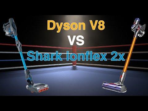 Dyson V8 Absolute VS Shark Ionflex Duoclean 2x - Comparison