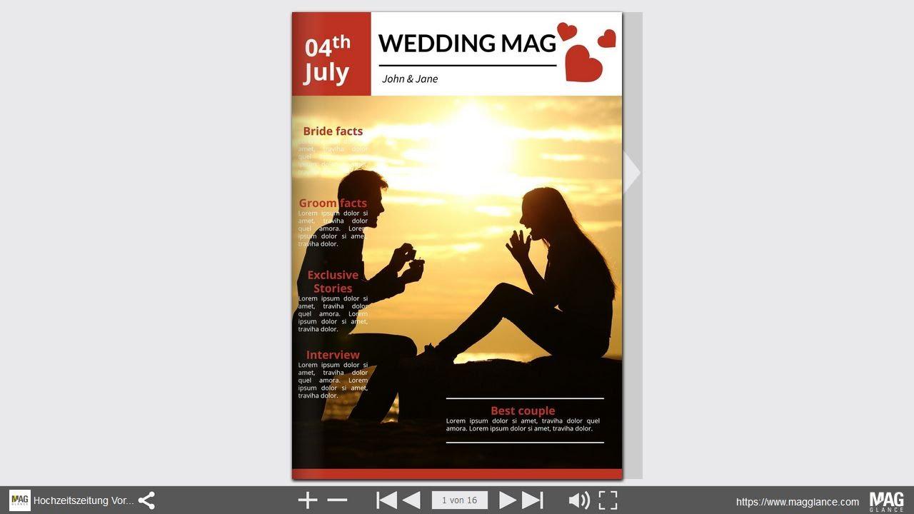 bltterbare vorlage fr eine hochzeitszeitung zum selber gestalten und drucken beispiel 2 youtube - Hochzeitszeitung Beispiele