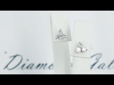 Серьги пусеты с бриллиантами от Diamond Gallery