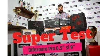 """Super Test Cu Difuzoare Pro De 6.5"""" - Midbass & Midrange -  Deaf Bonce,"""