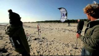 Kiteboarding lesson -  How to launch a kite - One Launch Kiteboarding
