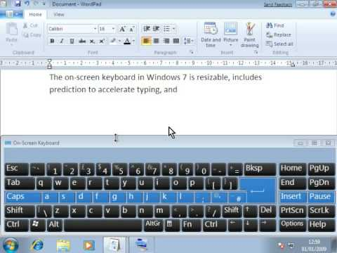 5efef2350f6 Windows 7 On Screen Keyboard - YouTube
