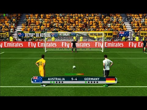AUSTRALIA vs GERMANY | Penalty Shootout | Confederations Cup | PES 2017 Gameplay