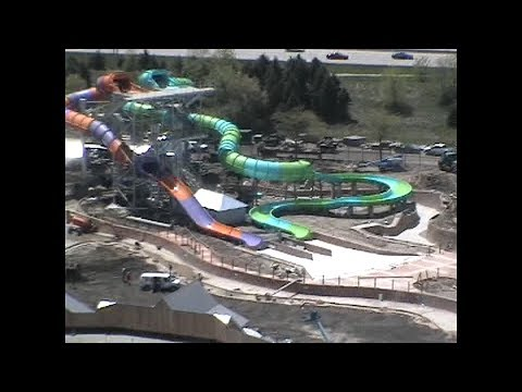 Sky Trek Ride During Hurricane Harbor Construction 2005 Six Flags Great America