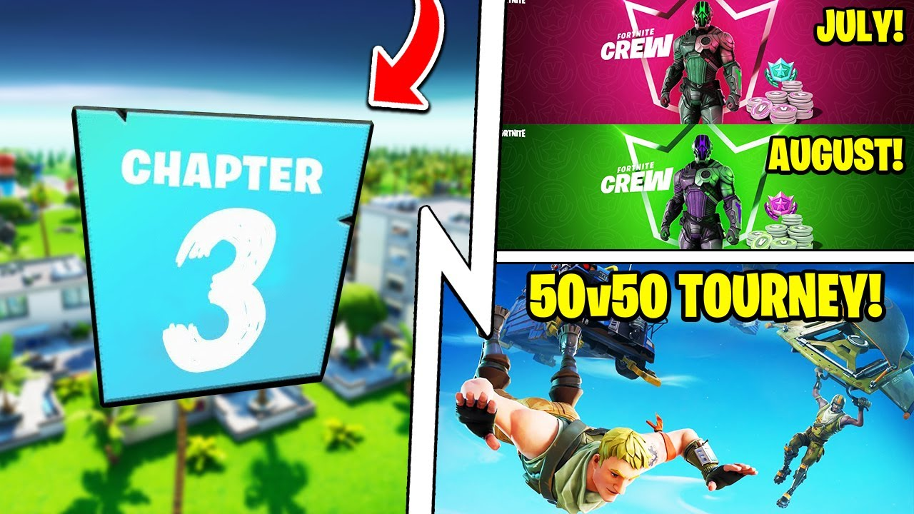 Fortnite Chapter 3, The Foundation STYLES (July Crew), 50v50 Tournament!