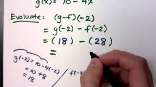 College Algebra - Part 106 (Function Operations and Composition)