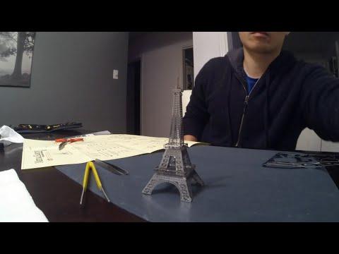 Metal Earth: Eiffel Tower Paris 3d metal model time lapse