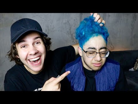 DYING HIS HAIR BECAUSE HE LOST A BET!! (SURPRISE)