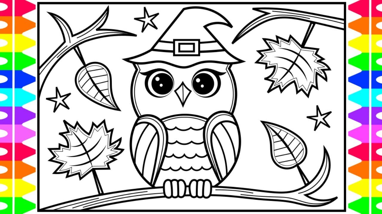 How To Draw An Owl For Kids Owl Drawing And Coloring Page