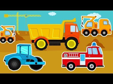 การ์ตูน รถดั้ม รถแมคโครตักดินบังคับ  แม็คโครตักดิน รถบด รถดับเพลิง ABC วีดีโอสำหรับเด็ก