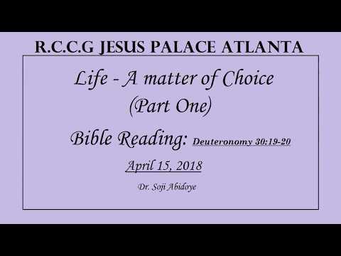 Life - A Matter of Choice - April 15, 2018