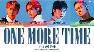 BTOB (비투비) - 'One More Time (もう一度だけ)' LYRICS COLOR CODED [JP…