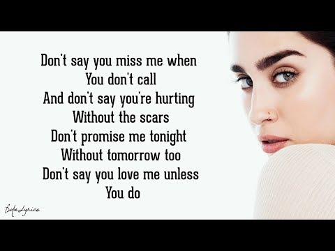 Don't Say You Love Me - Fifth Harmony (Lyrics)