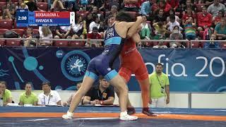 GOLD WW - 43 kg: L. BEKBAULOVA (RUS) v. N. HARADA (JPN)