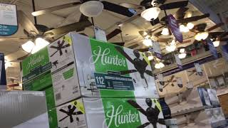 Ceiling fans at Lowe's March 3 2020
