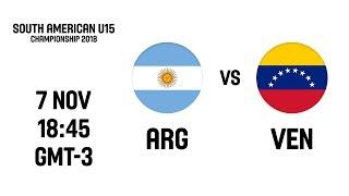 L VE   Argentina V Venezuela   South American U15 Championship 2018