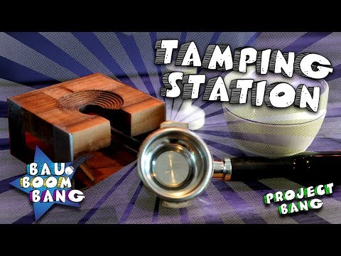 Tamping Station DIY / Holz-CNC-Metall-WIG / Espresso