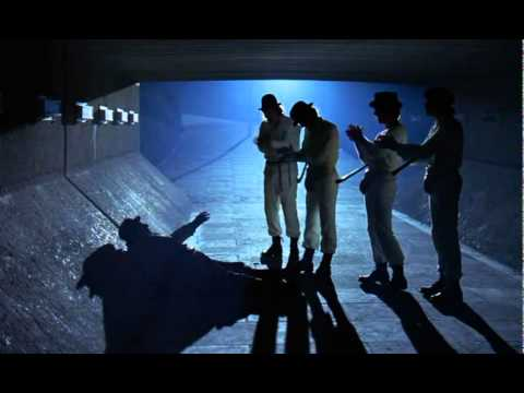 Image result for clockwork orange droogs beating up drunk