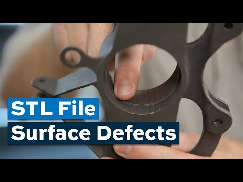 The STL File Can Produce Surface Defects in 3D-Printed Parts