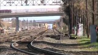 Union Pacific Work Train dumps rock on the Martinez sub. (part 3)