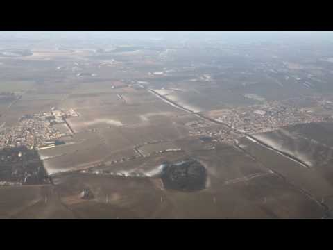 Landing at Bratislava Airport, Slovakia - January 2017