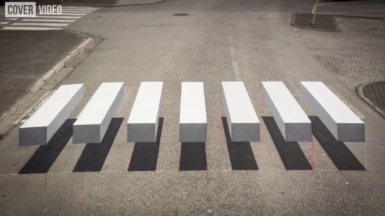 3D Zebrastreifen  YouTube