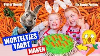 D.I.Y. ZELF WORTELTJES TAART MAKEN!! [Special voor Pieter Konijn Film] ♥DeZoeteZusjes♥