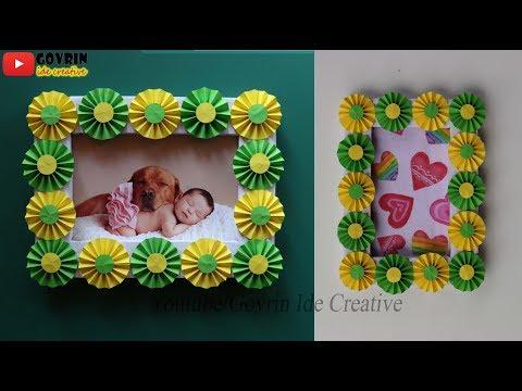 Best Out Of Waste - DIY Photo Frame   Kreatif Membuat Bingkai Foto dari Kertas