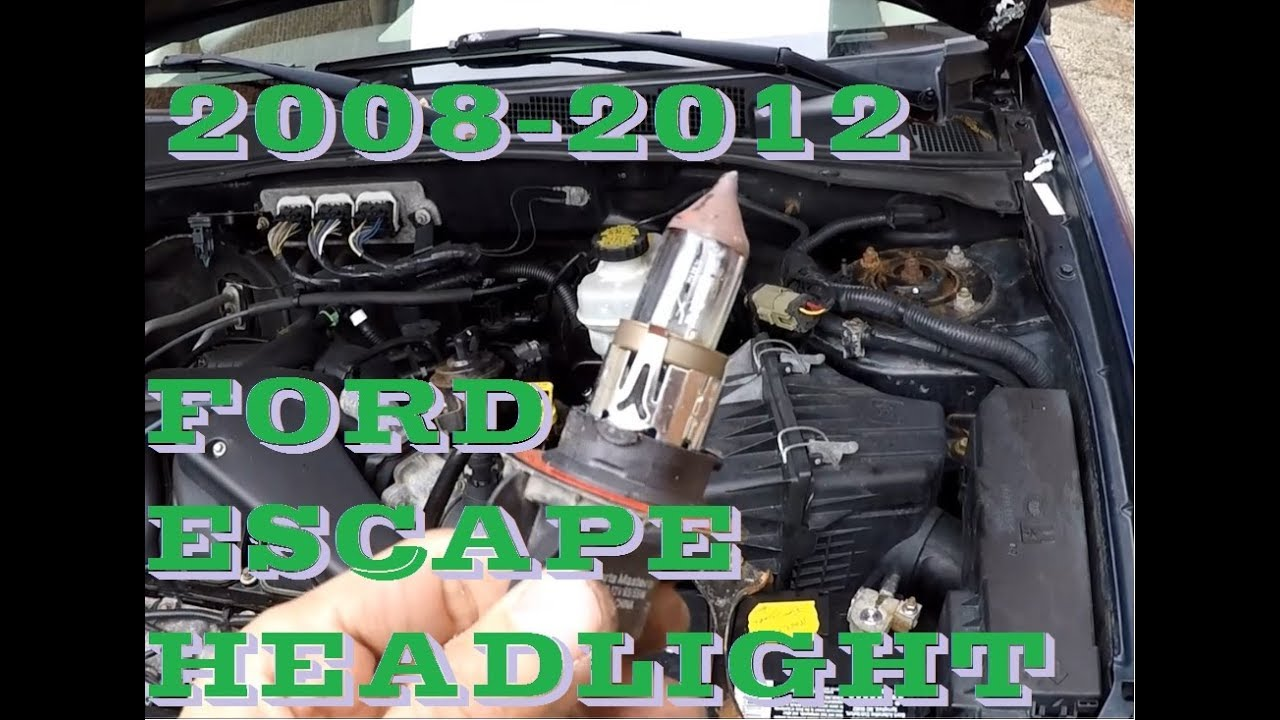 how to change headlight bulb and turn signal in 2008 2012 ford 2004 ford escape wiring diagram 2008 ford escape headlight wiring diagram [ 1280 x 720 Pixel ]