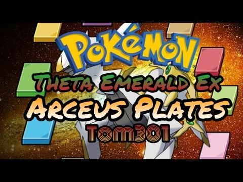 Pokémon Theta Emerald - Location of all the Arceus Plates!