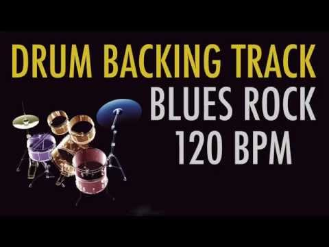 Drums Only Backing Track - Blues Rock 120 BPM