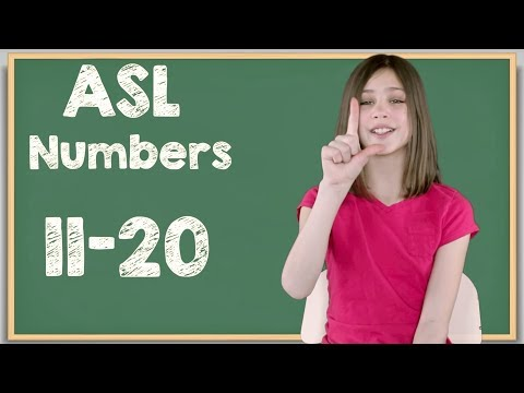 ASL Numbers 11-20 In Sign Language | Learn How To Sign Numbers