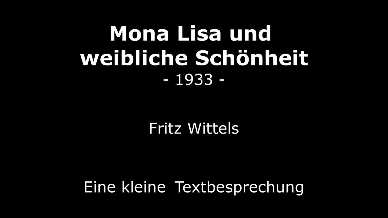Mona Lisa und weibliche Schönheit – Fritz Wittels (1933)