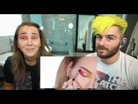 My Boyfriend Guides Me Through A Makeup Tutorial