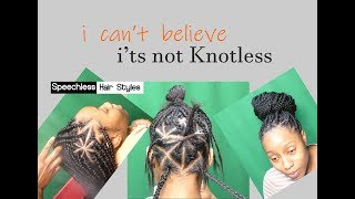 How to Box Braids! isit KnotLess? yes, no, maybe so