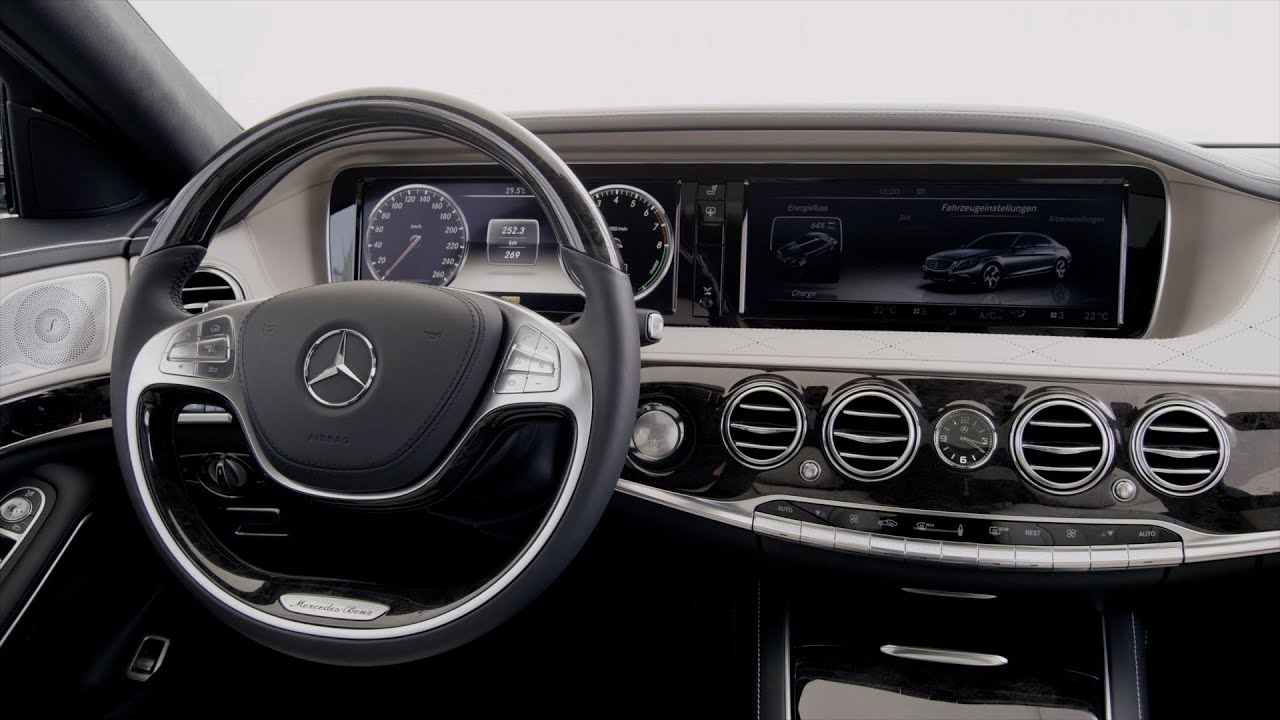 mercedes s class hybrid 2014 interior youtube. Black Bedroom Furniture Sets. Home Design Ideas
