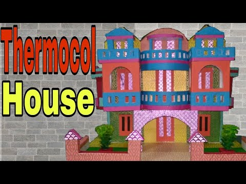 Thermocol House project ideas for kids 2018