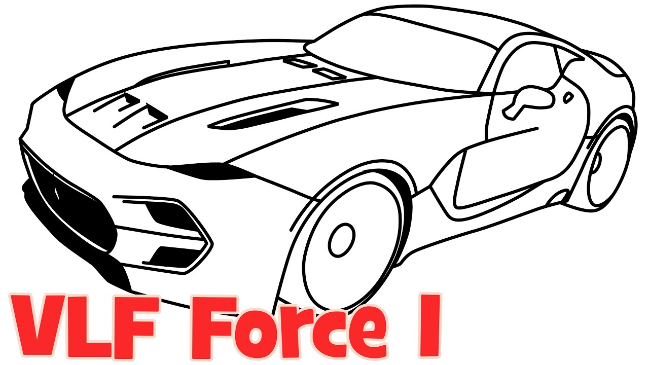 How To Draw A Car Vlf Force New Supercar Step By Step Easy