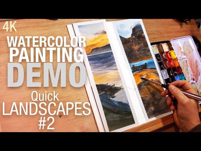 🖌️🎨 Comment peindre un paysage rapidement à l'aquarelle #2