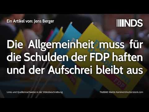 Die Allgemeinheit muss für die Schulden der FDP haften und der Aufschrei bleibt aus | Jens Berger