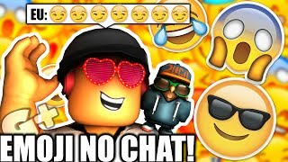 HOW TO USE EMOJI IN ROBLOX CHAT! PC
