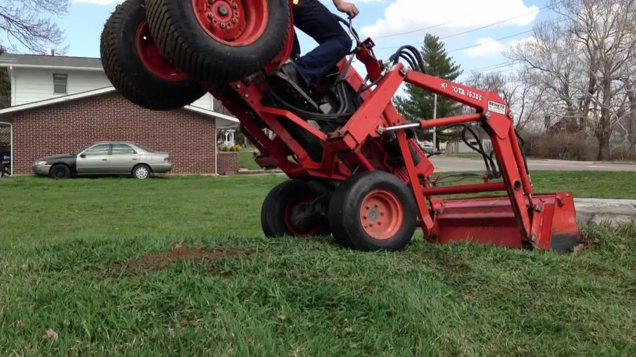 kubota tractor handstand youtube. Black Bedroom Furniture Sets. Home Design Ideas