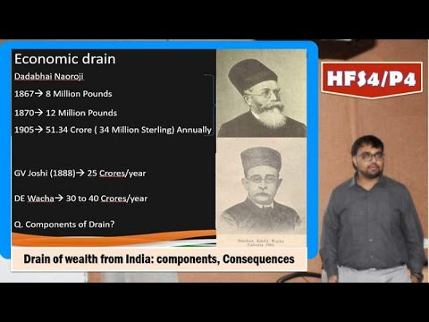 HFS4/P4: Economic Drain of wealth: Poverty & unbritish rule in India