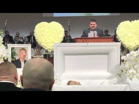 Похороны Вадима Кодратюка в церкви Сакраменто
